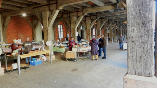 The Friday covered market wehere we buy our cheese and veggies and wine and sausage. Between the free samples and the long conversations, it takes all morning.