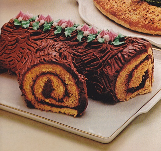 Bûche de Noël, take our word for it, this doesn't taste like a yule log.