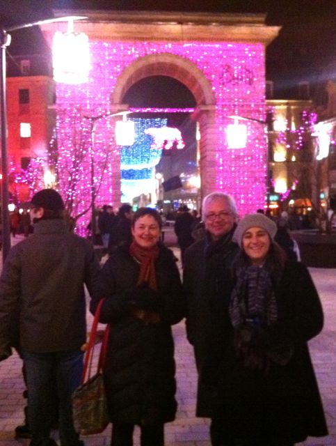 Dijon turned pink for the celebration of the newest tram line.