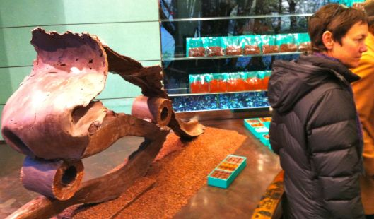 Chocolate sculpture at Rogers in Paris.