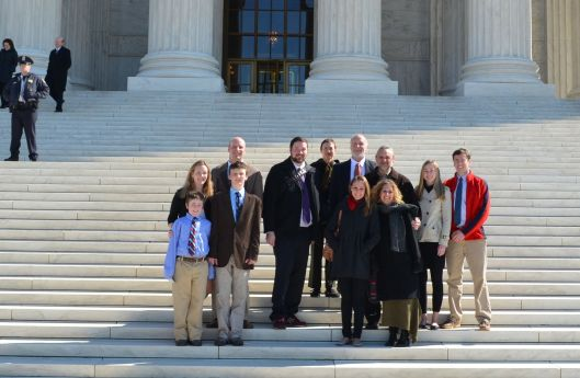 The Schwartz-Hamilton family at the Supreme Court in February 2012, a lifetime ago.
