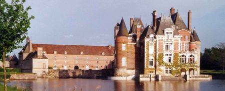 La Bussiere, a castle with its own fishing lake.