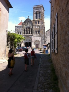 The  Basilica of St. Magdelene at Vezelay is a UNESCO World Heritage site and, fort almost 1,000 years, a destination for medieval pilgrims, now known as tourists.