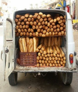 Bread is so essential that towns without their own boulangerie receive a daily delivery, probably from the French version of FEMA.