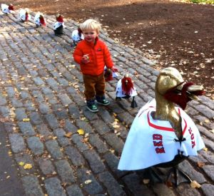 The Red Sox won the World Series and even the Make Way for Ducklings ducklings on the Boston Common got into the spirit.