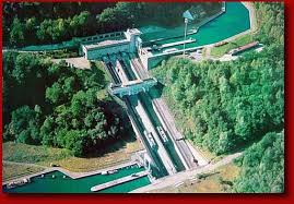 The Arzviller boat lift raises boats in a traveling tub up and down a hillside, when it works.