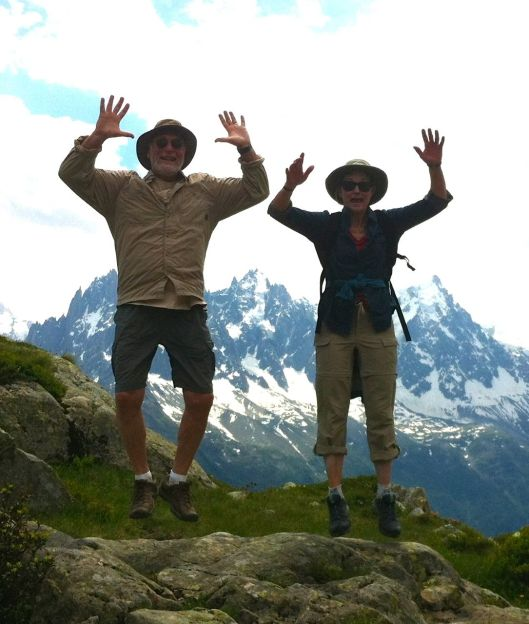 Here we are on the famous Alpine Anti-Gravity Rock.