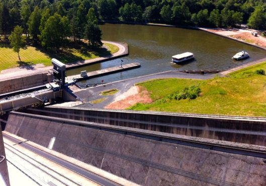 The Arzviller Inclined Plane Boat Lift, on our way down in June. We never made it back up.