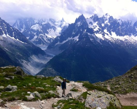 We climbed to the snow every day at Chamonix.