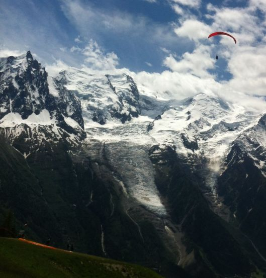 Harvey considered a paraglider ride from a mountain top. Then reconsidered it.