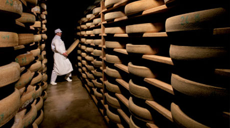 The wheels of Comte are stored in the cheese cellar for up to two years. Does eating a two-year-old unpasturezed milk product worry you? Try it, you'll like it.