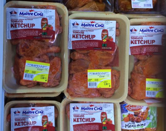 On special at the Intermarche was chicken marinated in . . . Ketchup. Not quite a high point of French cuisine.