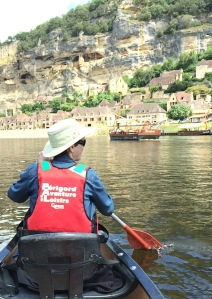 While the barge was laid up we rented a canoe on the Dordogne River and paddled from cliffside town to cliffside town.